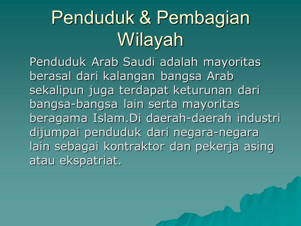 Penduduk & Pembagian Wilayah
