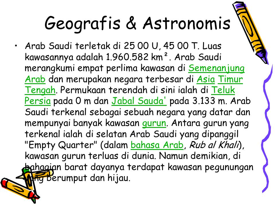 Geografis & Astronomis