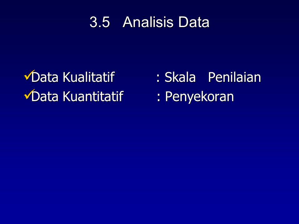 Data Kualitatif : Skala Penilaian Data Kuantitatif : Penyekoran