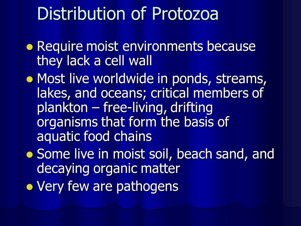 Distribution of Protozoa
