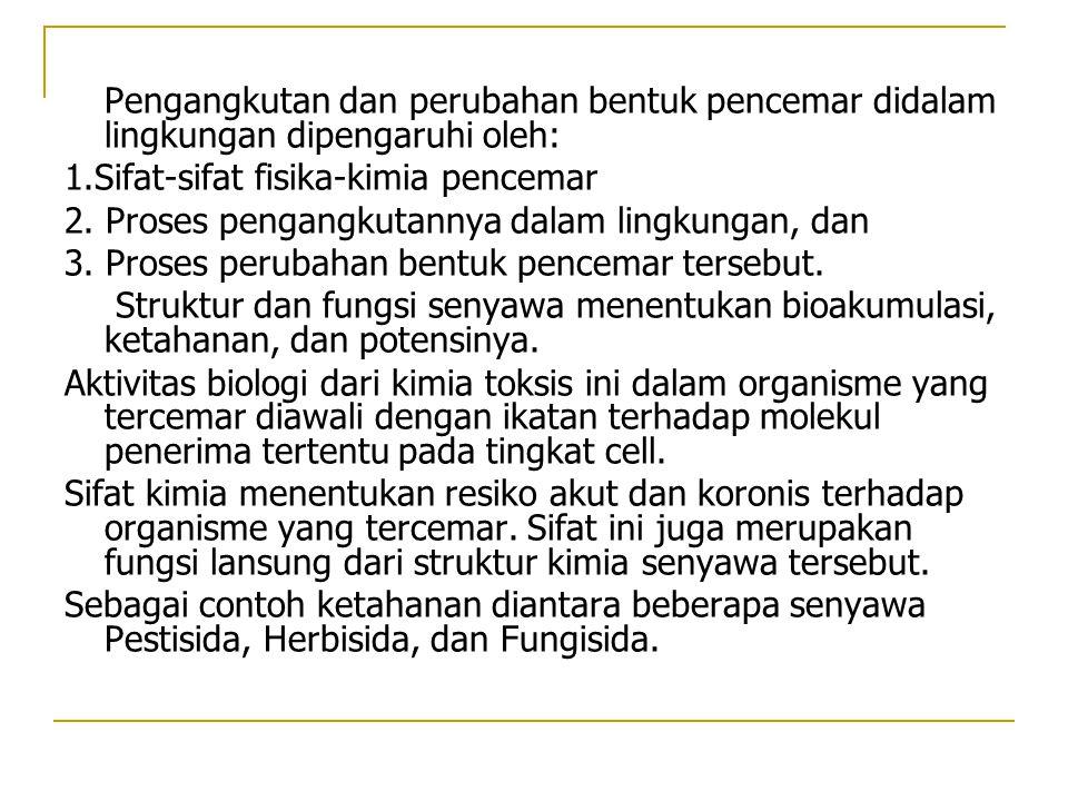 1.Sifat-sifat fisika-kimia pencemar