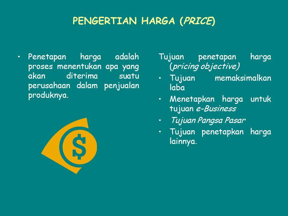 PENGERTIAN HARGA (PRICE)