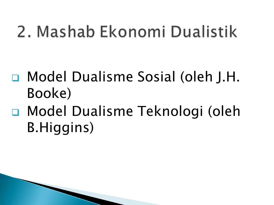2. Mashab Ekonomi Dualistik