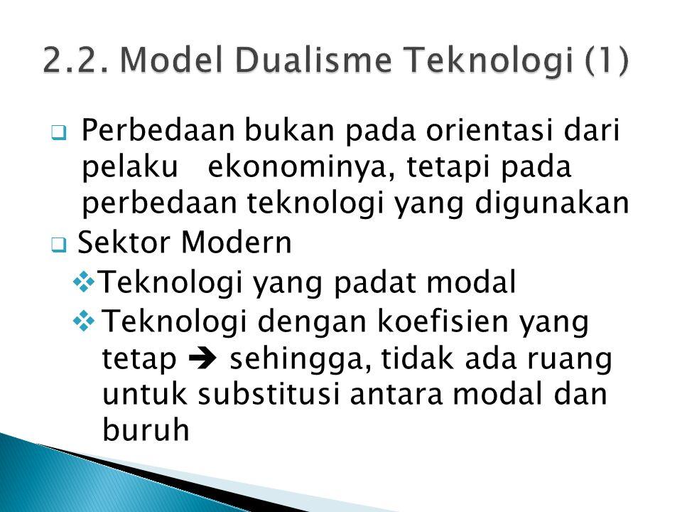 2.2. Model Dualisme Teknologi (1)