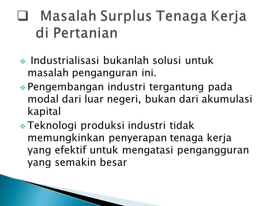 Masalah Surplus Tenaga Kerja di Pertanian