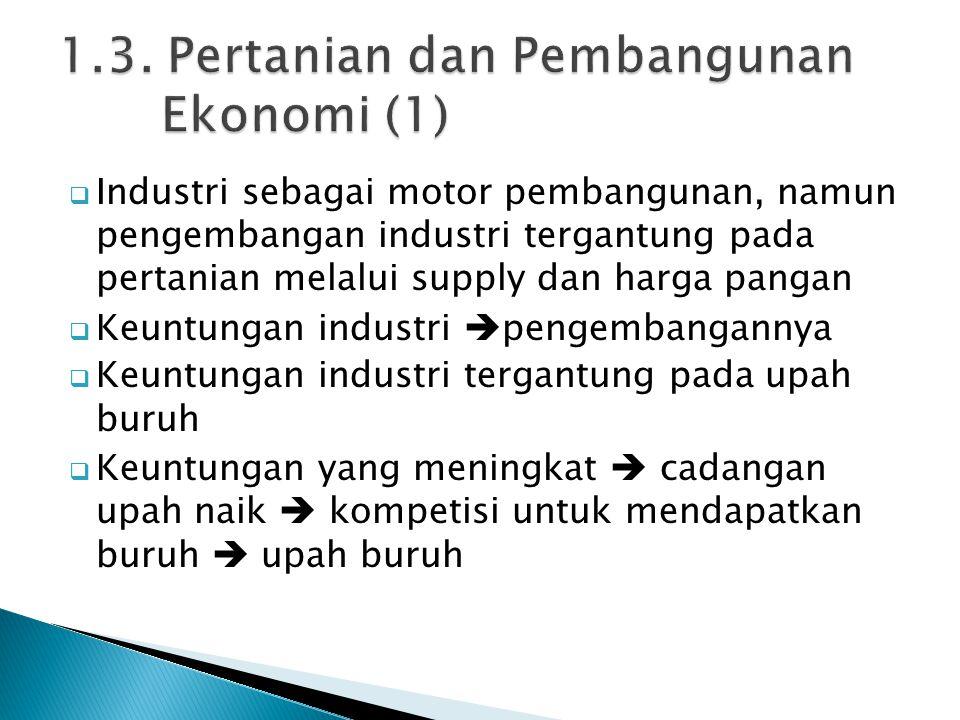 1.3. Pertanian dan Pembangunan Ekonomi (1)