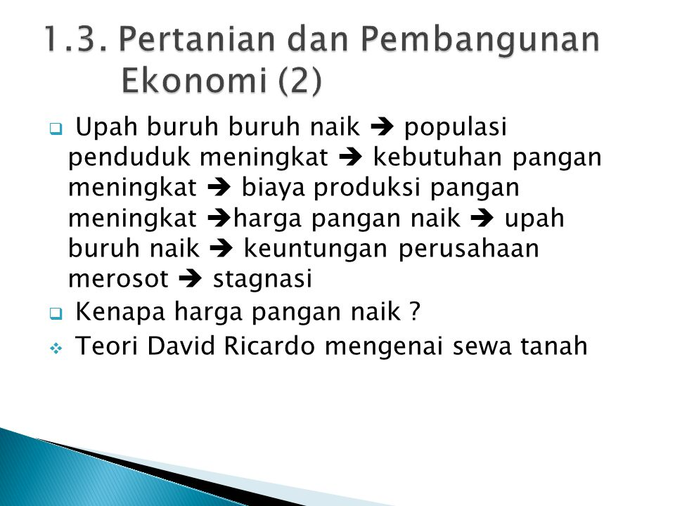 1.3. Pertanian dan Pembangunan Ekonomi (2)