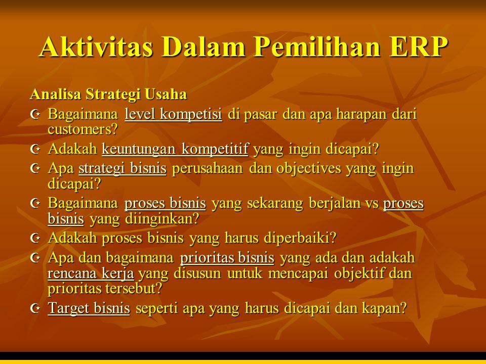 Aktivitas Dalam Pemilihan ERP