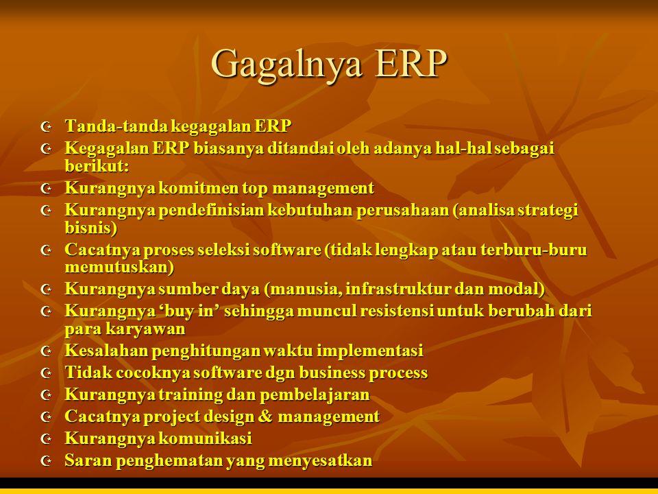Gagalnya ERP Tanda-tanda kegagalan ERP