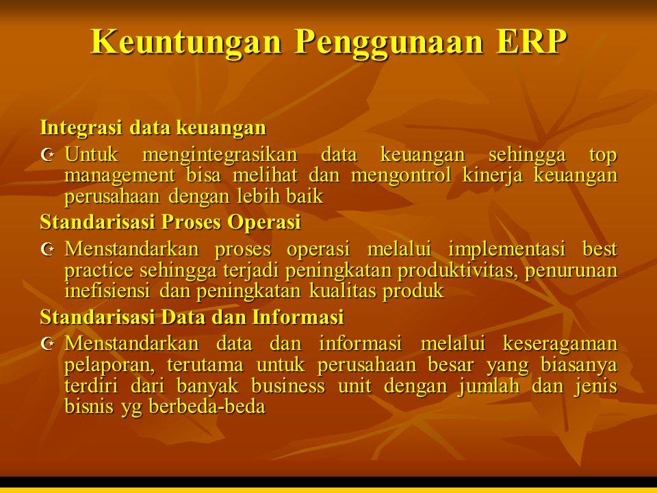 Keuntungan Penggunaan ERP
