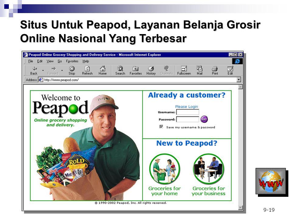 Situs Untuk Peapod, Layanan Belanja Grosir Online Nasional Yang Terbesar