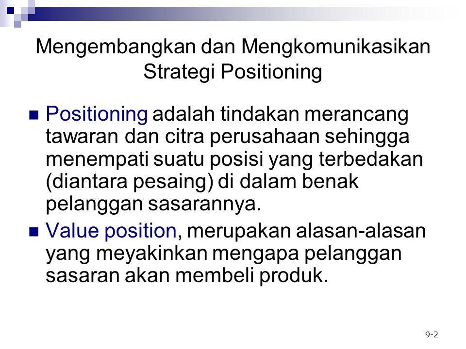 Mengembangkan dan Mengkomunikasikan Strategi Positioning