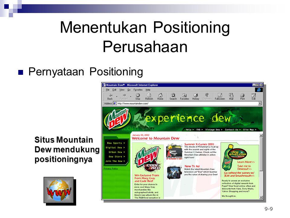 Menentukan Positioning Perusahaan