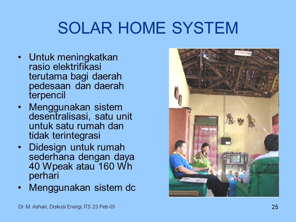 SOLAR HOME SYSTEM Untuk meningkatkan rasio elektrifikasi terutama bagi daerah pedesaan dan daerah terpencil.