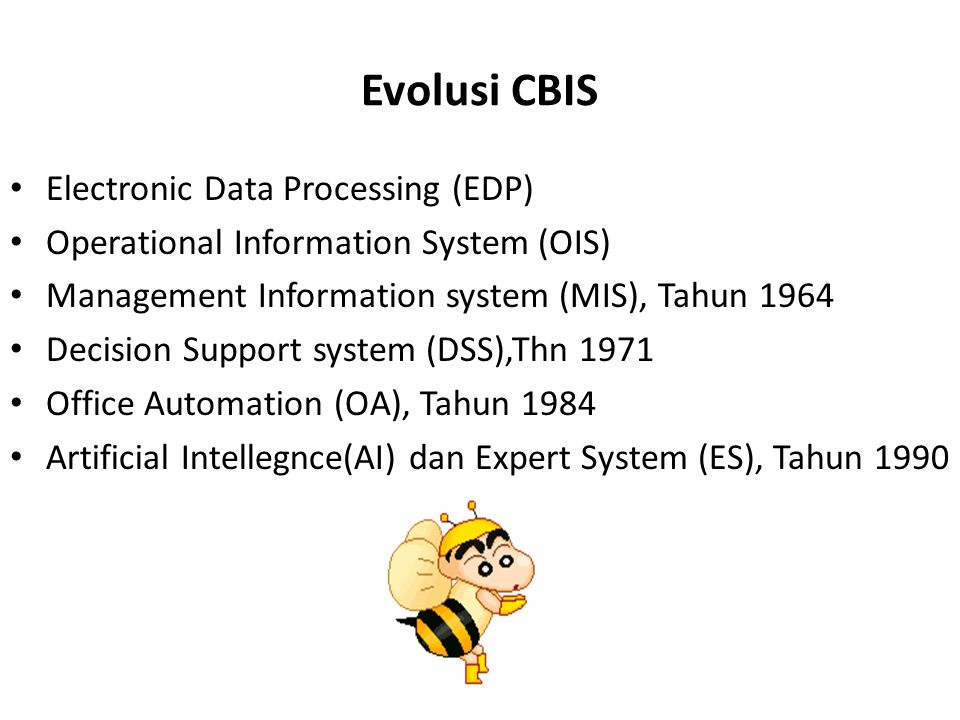Evolusi CBIS Electronic Data Processing (EDP)