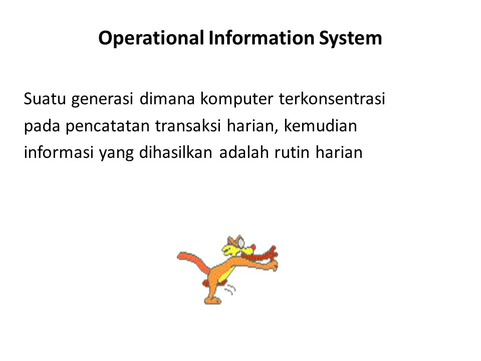 Operational Information System