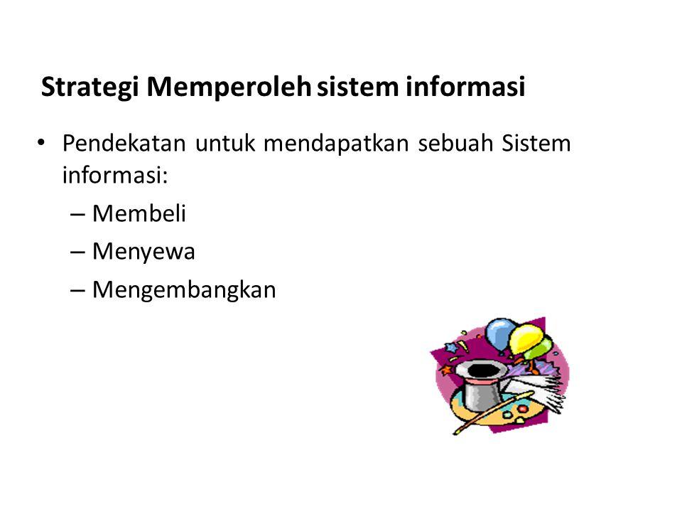 Strategi Memperoleh sistem informasi