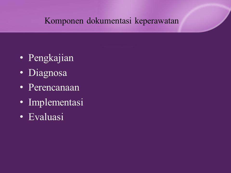 Komponen dokumentasi keperawatan