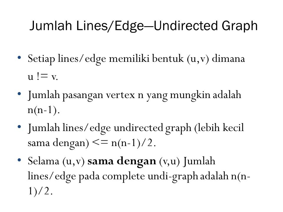 Jumlah Lines/Edge—Undirected Graph