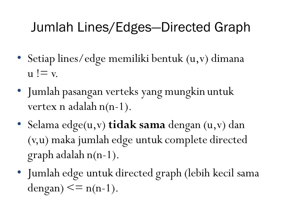 Jumlah Lines/Edges—Directed Graph