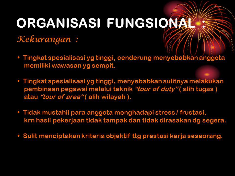 ORGANISASI FUNGSIONAL :