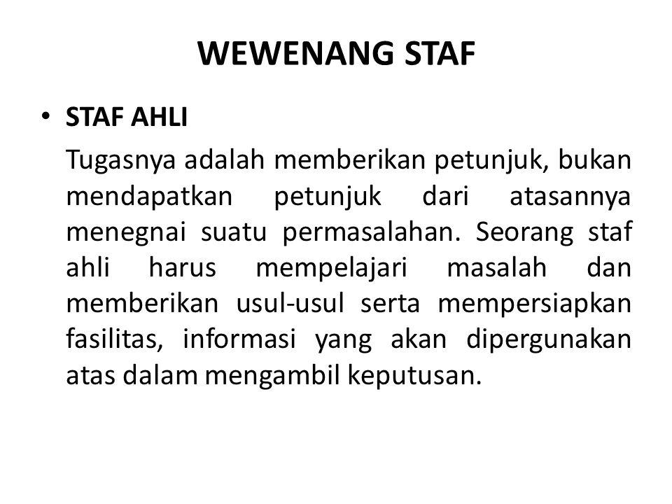 WEWENANG STAF STAF AHLI