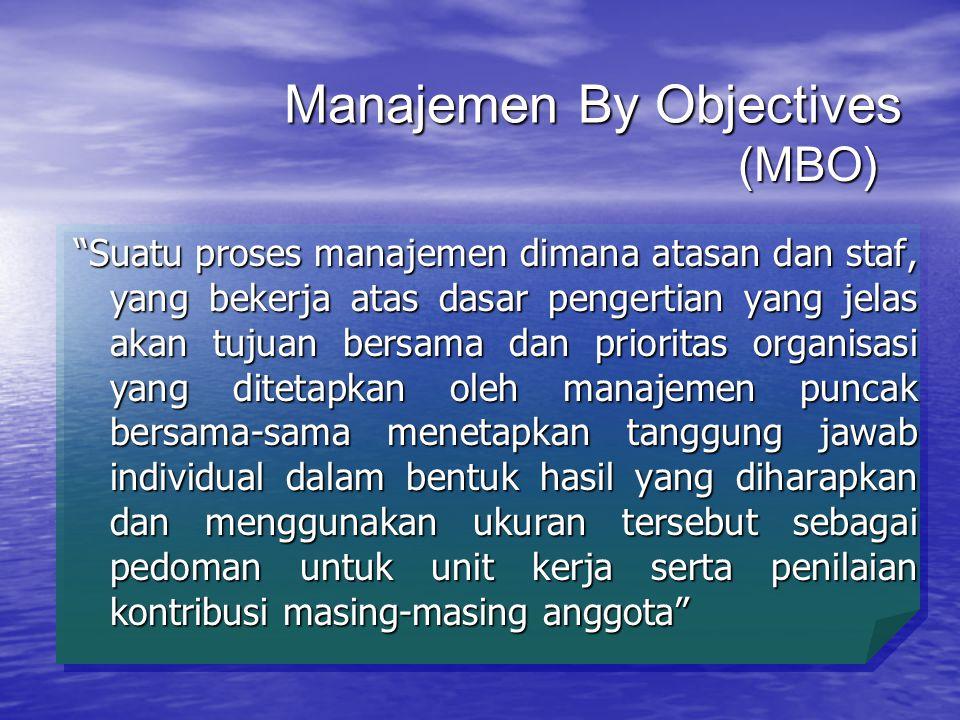 Manajemen By Objectives