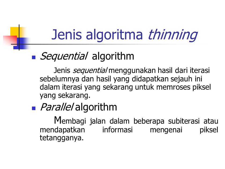 Jenis algoritma thinning