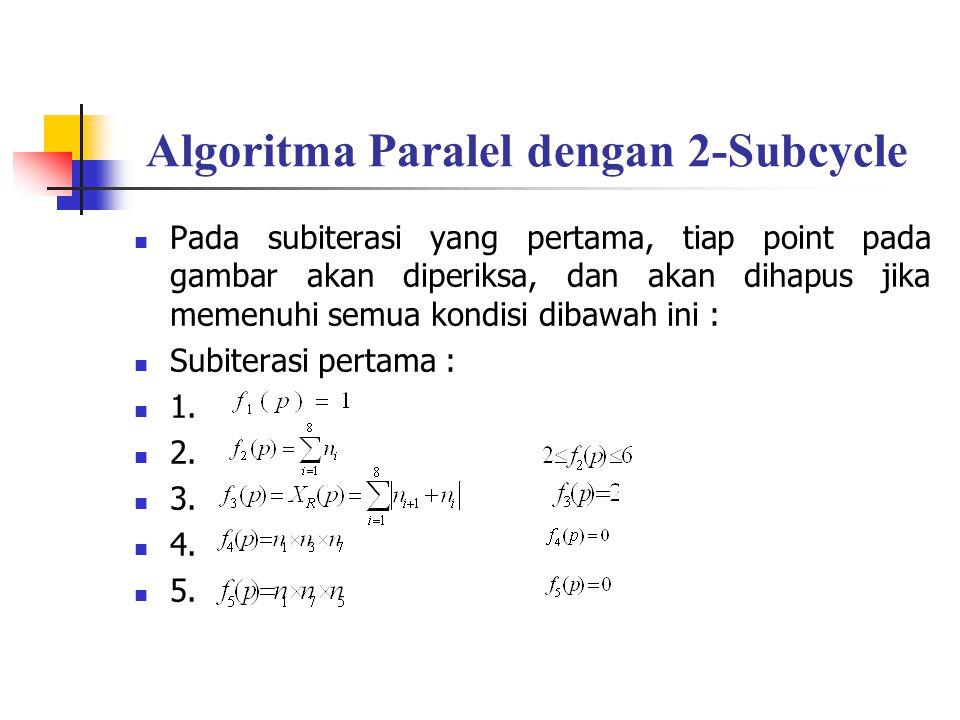 Algoritma Paralel dengan 2-Subcycle