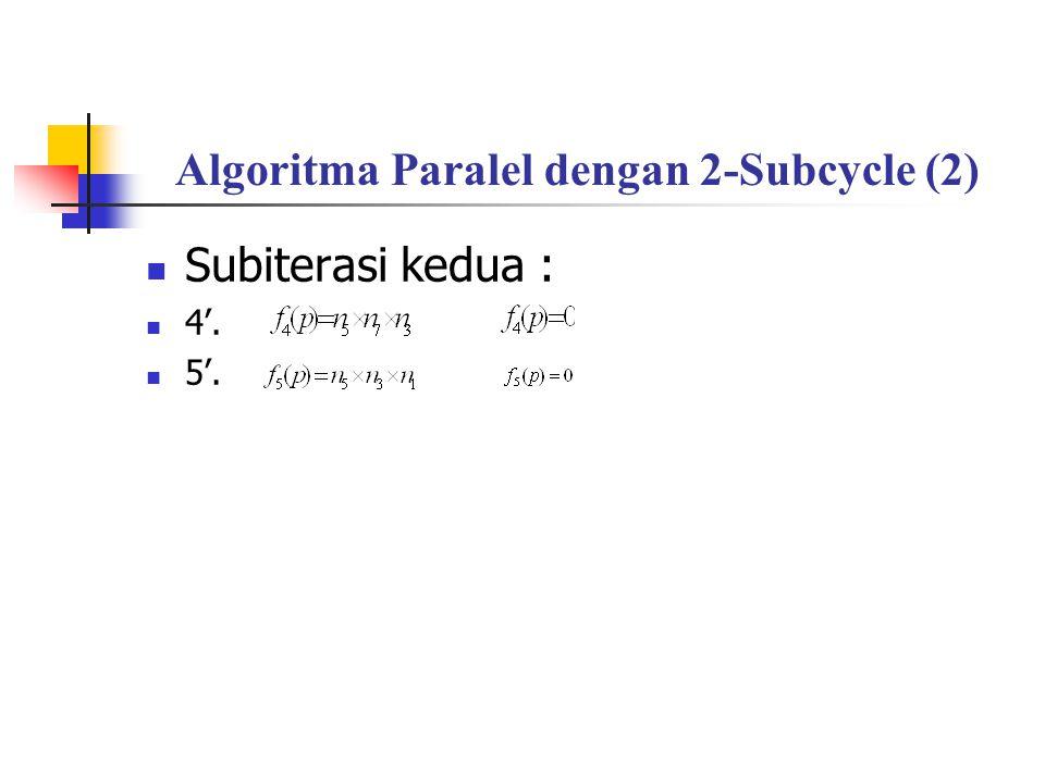 Algoritma Paralel dengan 2-Subcycle (2)