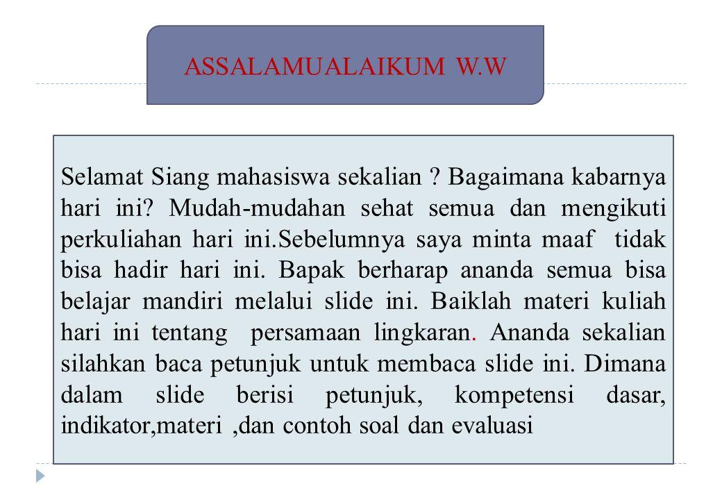 ASSALAMUALAIKUM W.W