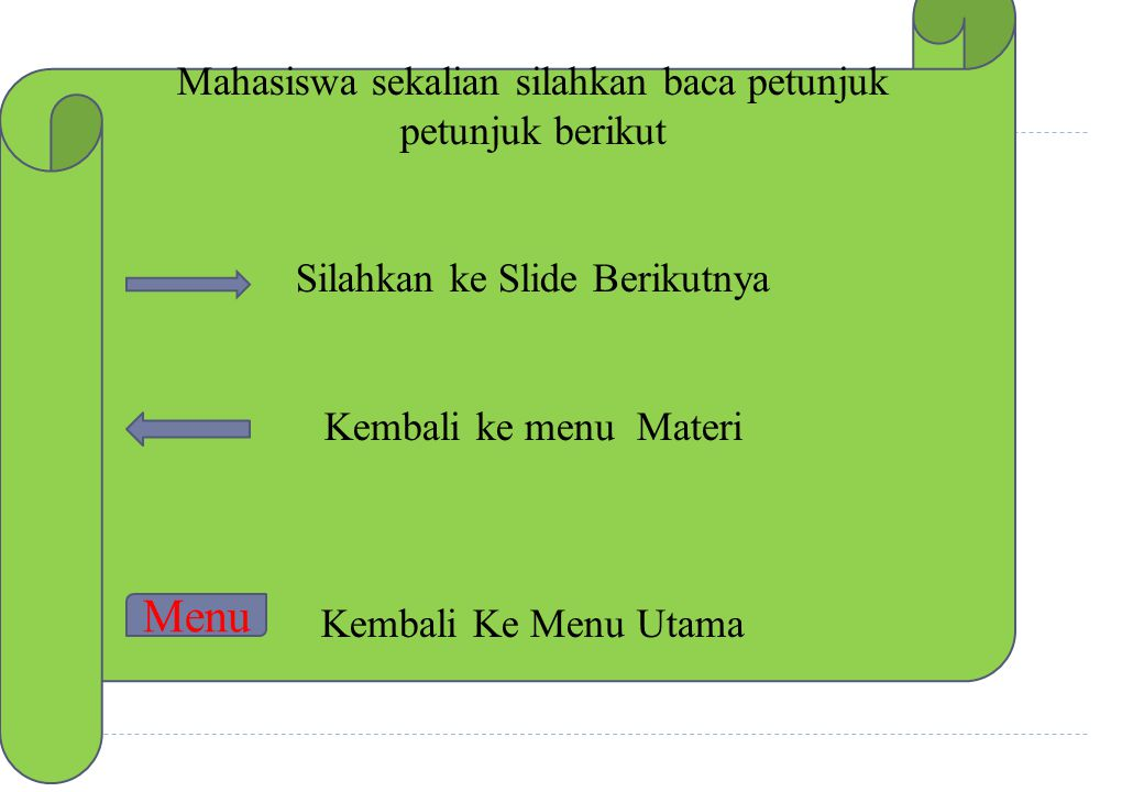 Menu Mahasiswa sekalian silahkan baca petunjuk petunjuk berikut