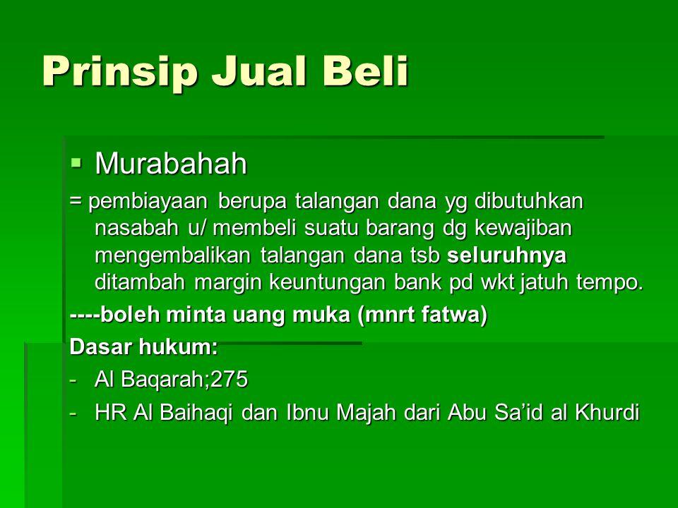 Prinsip Jual Beli Murabahah