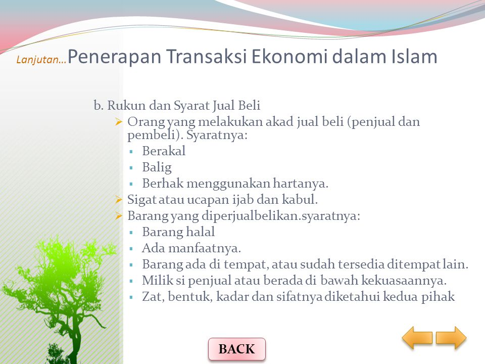 Lanjutan…Penerapan Transaksi Ekonomi dalam Islam