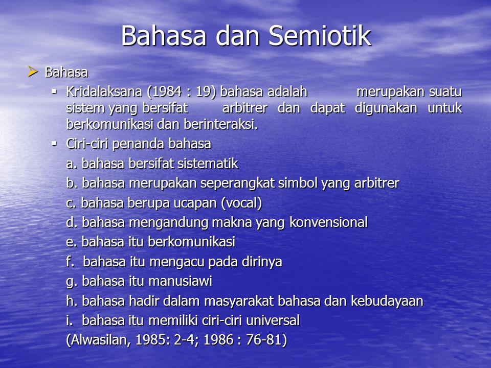 Bahasa dan Semiotik Bahasa