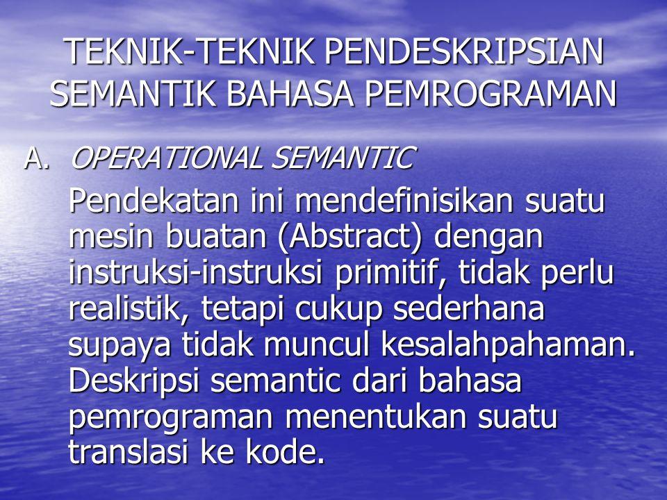 TEKNIK-TEKNIK PENDESKRIPSIAN SEMANTIK BAHASA PEMROGRAMAN