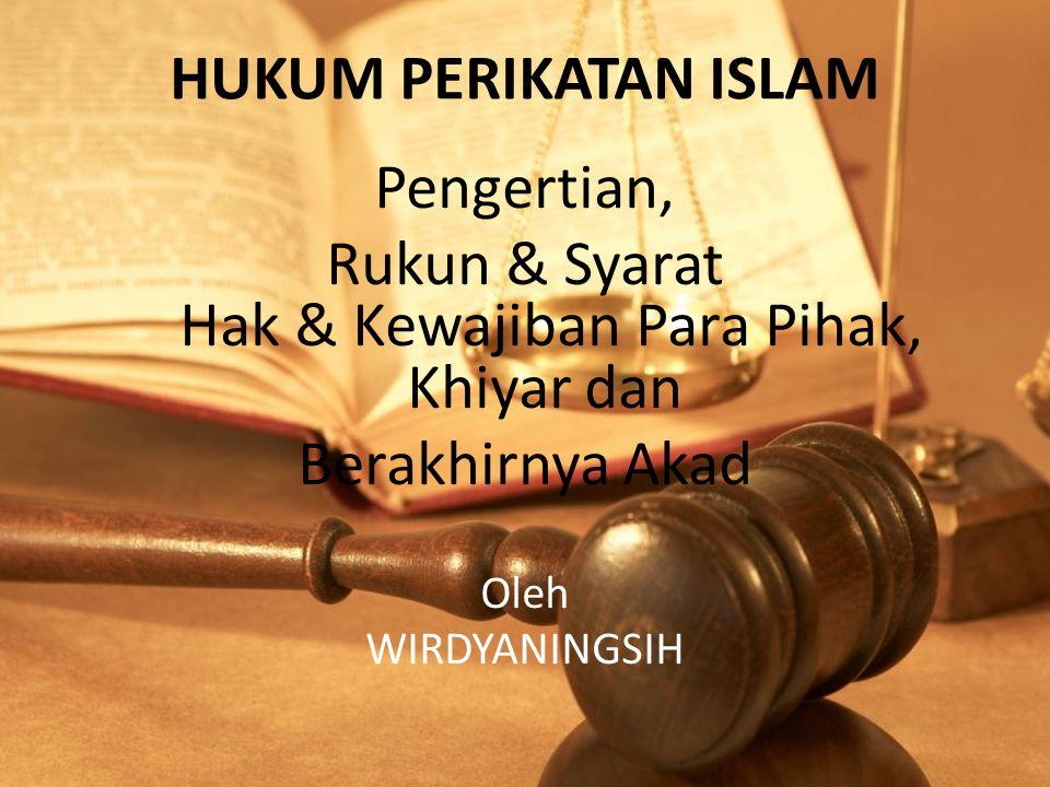 Rukun & Syarat Hak & Kewajiban Para Pihak, Khiyar dan