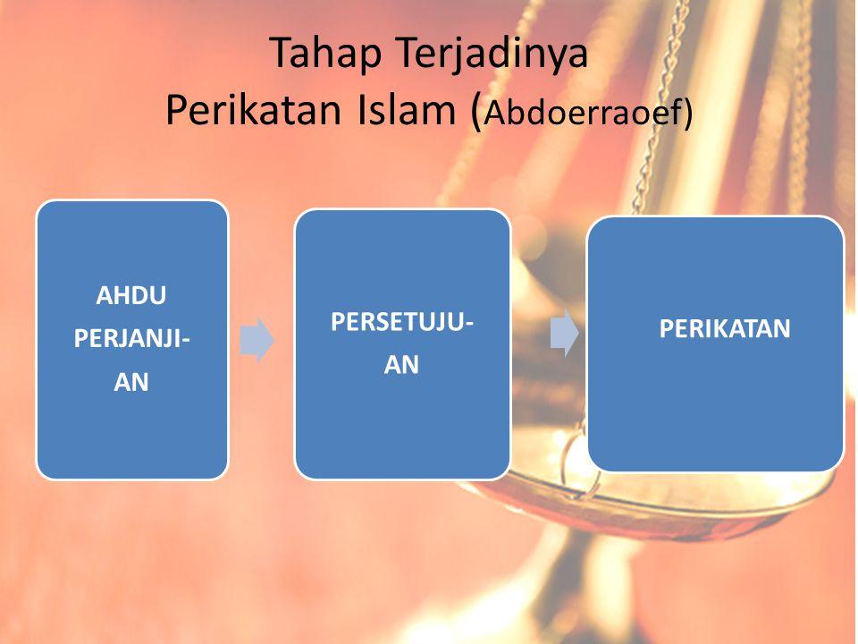 Tahap Terjadinya Perikatan Islam (Abdoerraoef)
