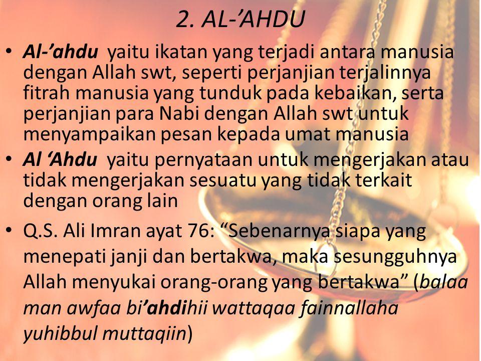 2. AL-'AHDU