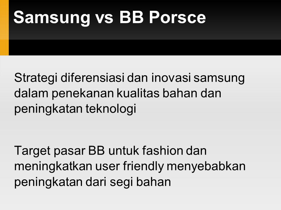 Samsung vs BB Porsce