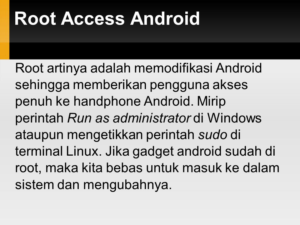 Root Access Android