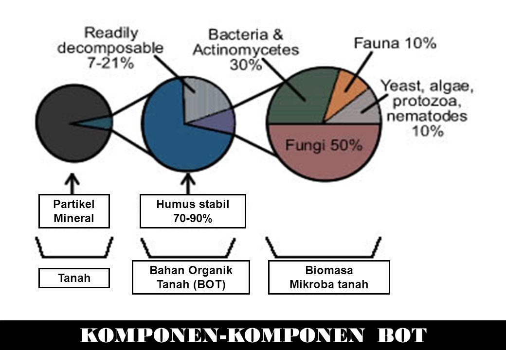 Bahan Organik Tanah (BOT) KOMPONEN-KOMPONEN BOT