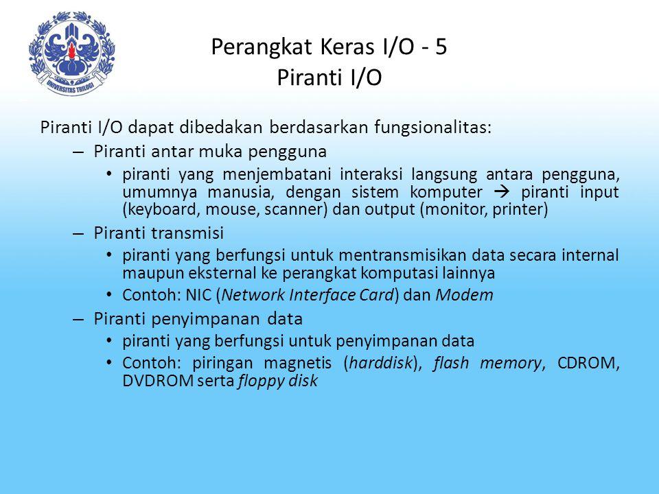 Perangkat Keras I/O - 5 Piranti I/O