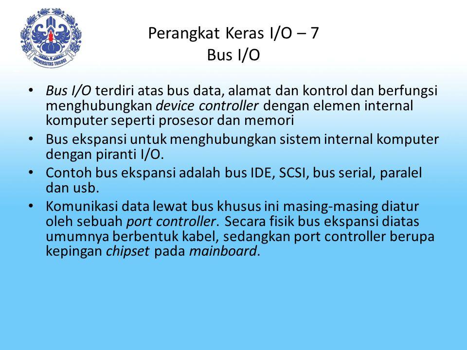 Perangkat Keras I/O – 7 Bus I/O
