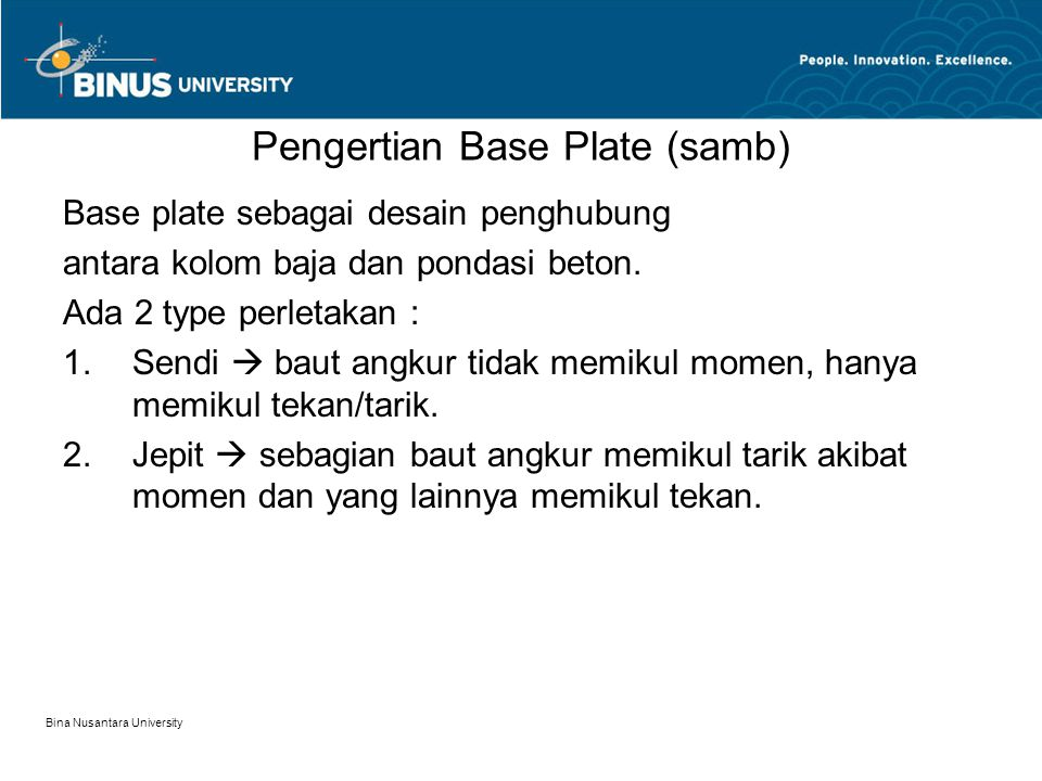 Pengertian Base Plate (samb)