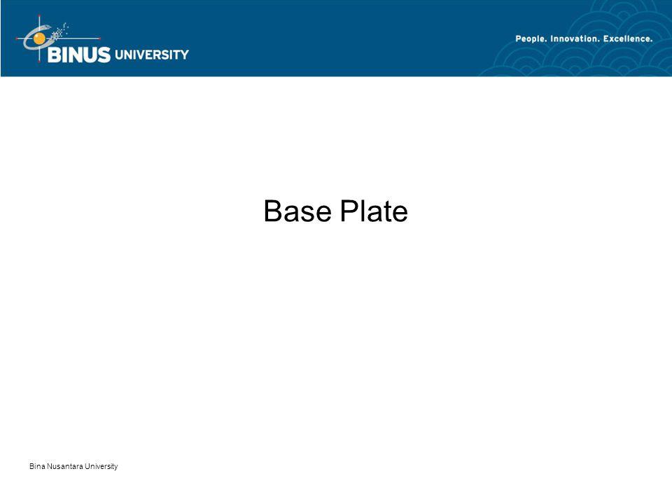 Base Plate Bina Nusantara University