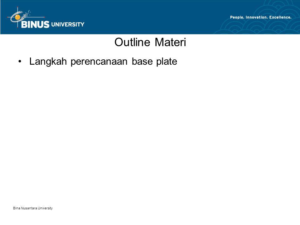 Outline Materi Langkah perencanaan base plate