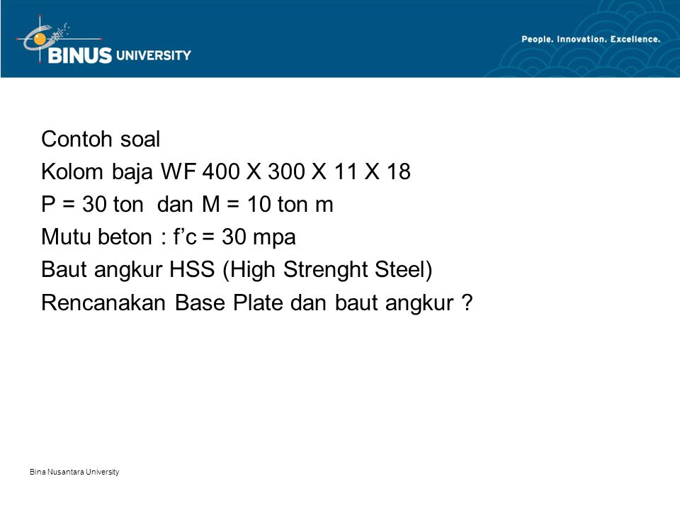 Baut angkur HSS (High Strenght Steel)