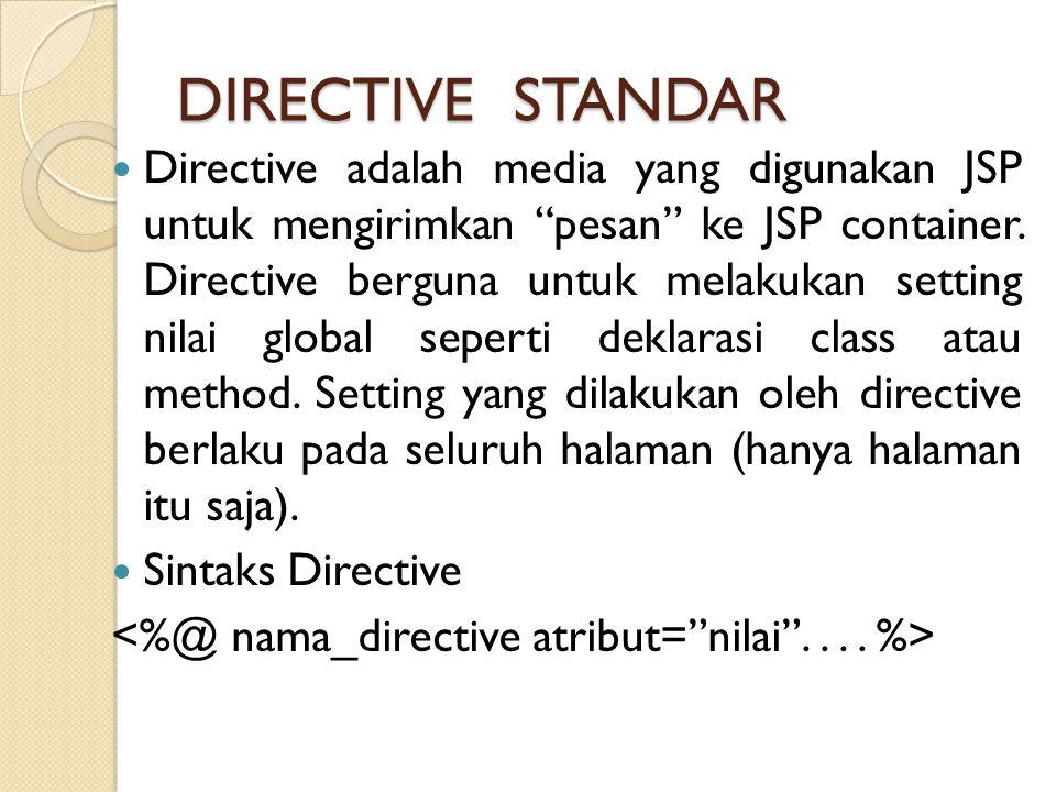 DIRECTIVE STANDAR