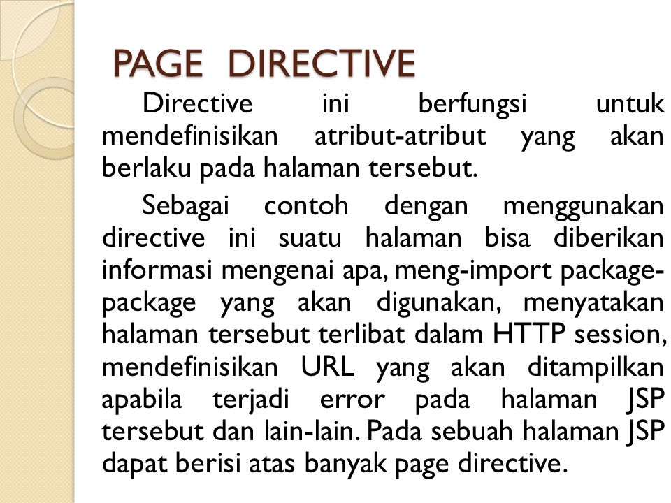 PAGE DIRECTIVE
